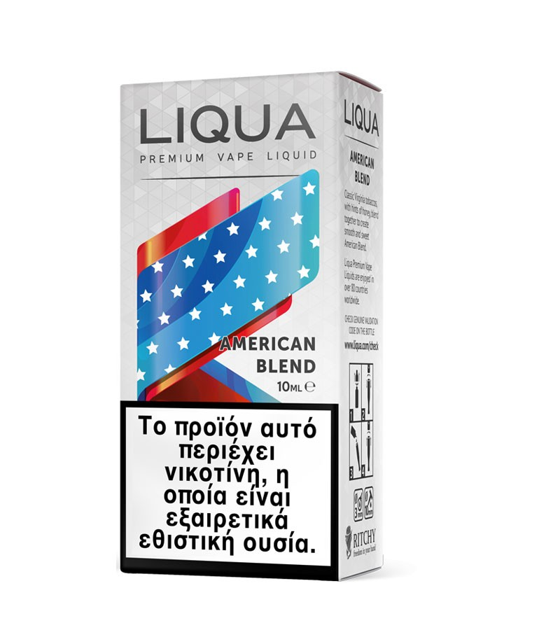 ELIQUID - 10ml - LIQUA (TPD) - American Blend - 3mg