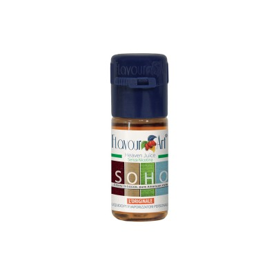 ELIQUID - 10ml - FLAVOURART ITALY - SOHO - 18mg (TPD)